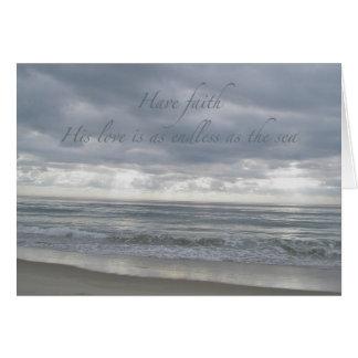 Ocean Have Faith Encouragement Card