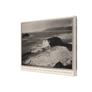 Ocean, headlands from Cliff House Rocks Canvas Print
