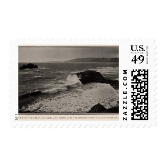 Ocean, headlands from Cliff House Rocks Stamp