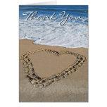 Ocean Heart Thank You Card (blank)