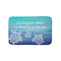 Ocean Honu Sea Turtles Bathroom Mat