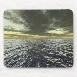 Ocean Horizon Sunset Mouse Pad