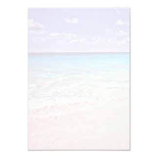 Ocean Horizon Tropical Scenic Blank Paper 5x7 Paper Invitation Card