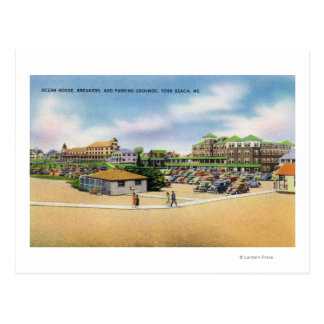 Ocean House, Breakers, and Parking Grounds Postcard