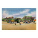 Ocean House, Breakers, and Parking Grounds Poster