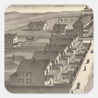 Ocean House, Point Pleasant, NJ Square Sticker