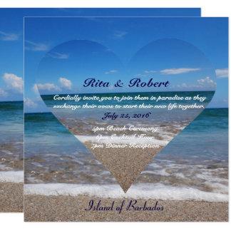 Ocean I Dark Blue | Wedding Invitation Semi-Gloss