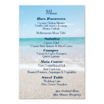 Ocean I Destination Wedding Menu Invitation
