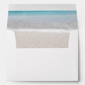 Ocean I Envelope for 5x7 Wedding Invitation