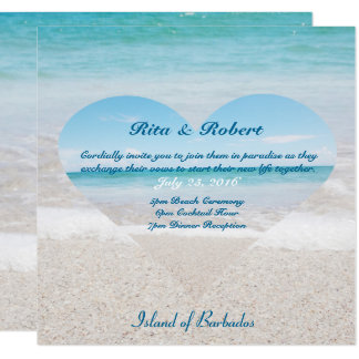 Ocean I Light Blue | Wedding Invitation Semi-Gloss