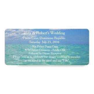 Ocean III Wedding Invitation