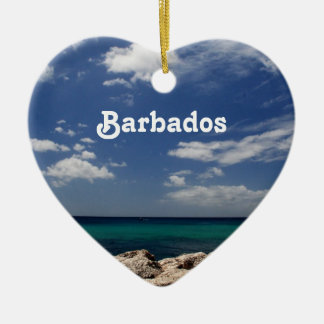 Ocean in Barbados Ceramic Ornament
