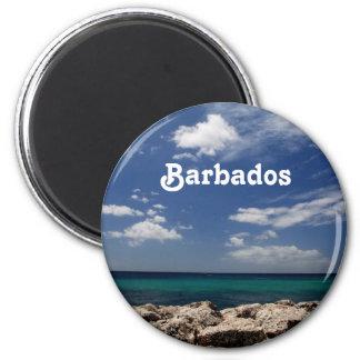 Ocean in Barbados Magnets