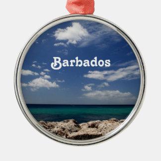 Ocean in Barbados Metal Ornament