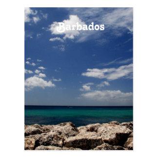 Ocean in Barbados Postcard