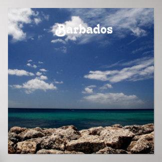 Ocean in Barbados Poster