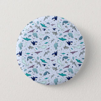 Ocean in Blue Pinback Button