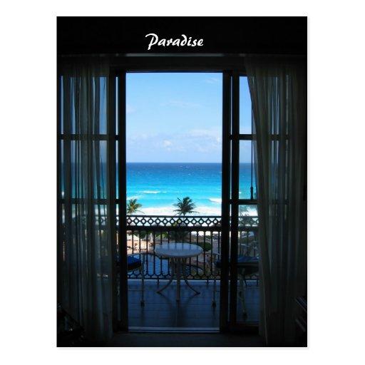 Ocean in Cancun, Mexico Postcard