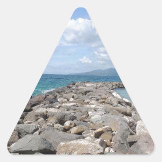 Ocean in Grenada Triangle Sticker