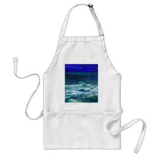 Ocean in the Moonlight  CricketDiane Ocean Art Adult Apron