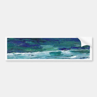 Ocean in the Moonlight  CricketDiane Ocean Art Bumper Sticker