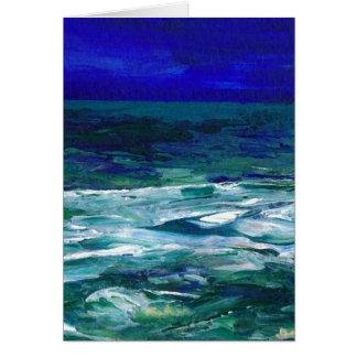 Ocean in the Moonlight  CricketDiane Ocean Art Greeting Card