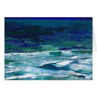 Ocean in the Moonlight  CricketDiane Ocean Art Greeting Cards