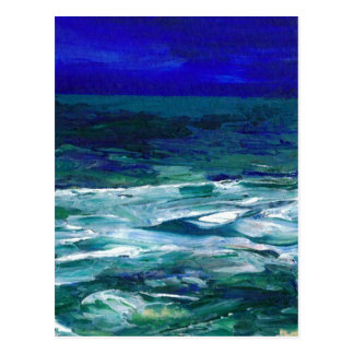 Ocean in the Moonlight  CricketDiane Ocean Art Postcard