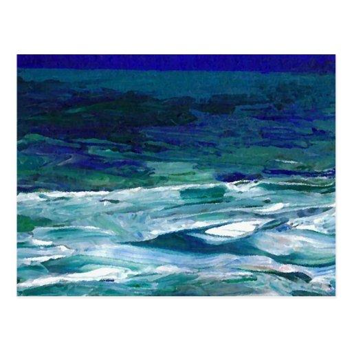 Ocean in the Moonlight  CricketDiane Ocean Art Post Card