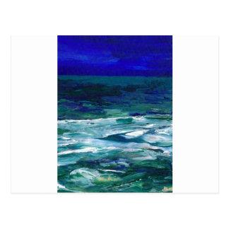 Ocean in the Moonlight Ocean Art Seascape Gifts Postcard