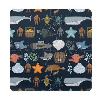 Ocean Inhabitants Pattern 1 Puzzle Coaster