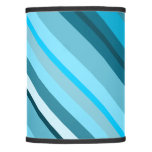 [ Thumbnail: Ocean-Inspired Blue/Teal/Aqua Stripes Lamp Shade ]