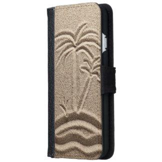 Ocean Island Beach wedding  Sand Wallet Phone Case For iPhone 6/6s