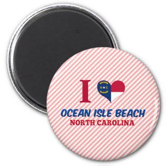 Ocean Isle Beach, North Carolina 2 Inch Round Magnet