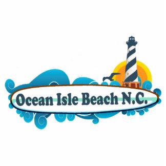 Ocean Isle Beach. Photo Sculpture Button