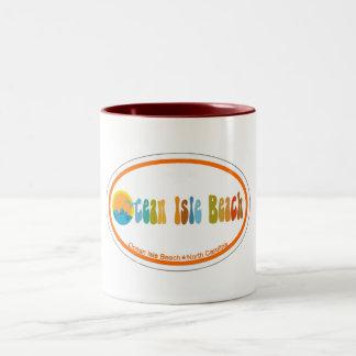 Ocean Isle Beach. Two-Tone Coffee Mug