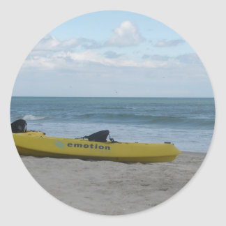 Ocean Kayak at Nags Head Round Stickers