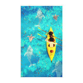 "Ocean Kayak Canoe Art ""Secrets of the Sea"" Large Canvas Prints"