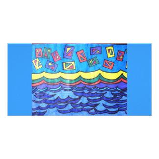Ocean Kites Picture Card