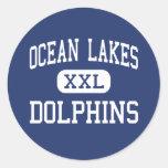 Ocean Lakes - Dolphins - High - Virginia Beach Classic Round Sticker