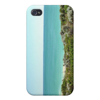 Ocean landscape with dunes and scrub cover for iPhone 4