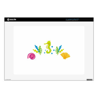 """Ocean Life Arch Decals For 15"""" Laptops"""