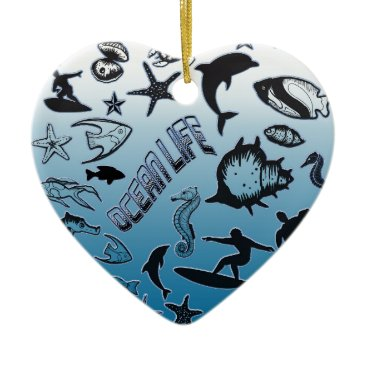 Hawaiian Themed Ocean Life Ceramic Ornament