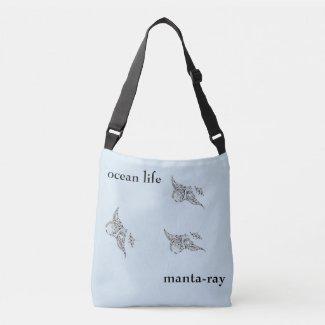 ocean life crossbody bag