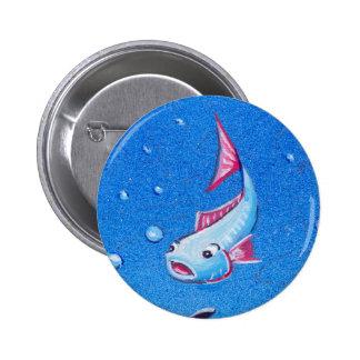 Ocean Life: Fish: Round Button