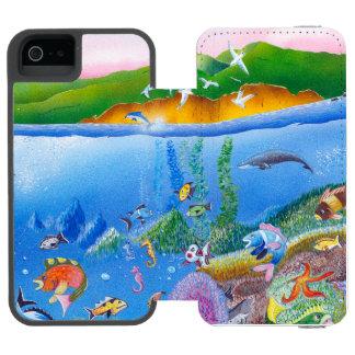 Ocean Life: iPhone 5/5s Wallet Case