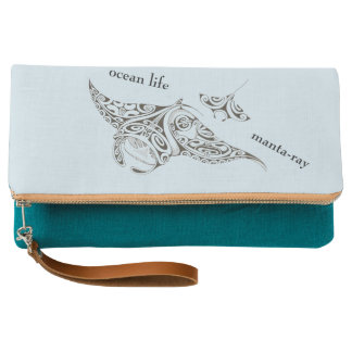 OCEAN LIFE manta-ray Clutch
