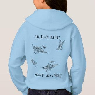 OCEAN LIFE manta-ray spirit Hoodie