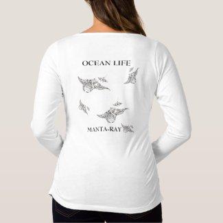 OCEAN LIFE manta-ray spirit Maternity T-Shirt