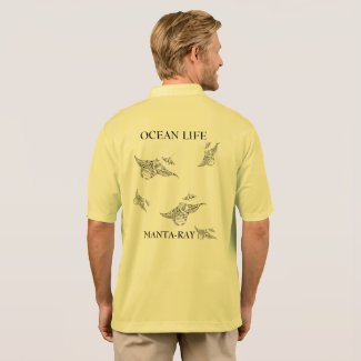 OCEAN LIFE manta-ray spirit Polo Shirt